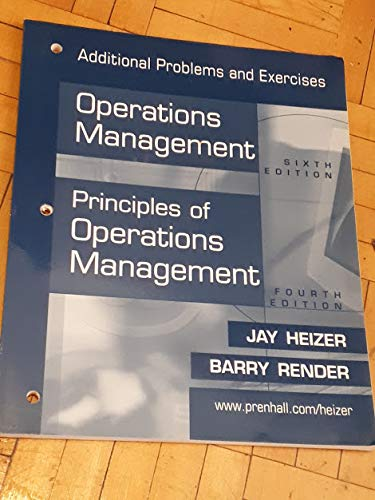 9780130475848: Additional Problems and Exercises Operations Management