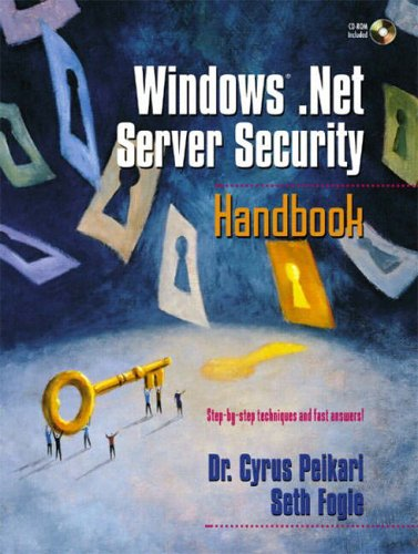 9780130477262: Windows.NET Server Security Handbook