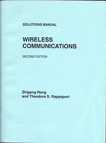 9780130477279: Solutions Manual Wireless Communications