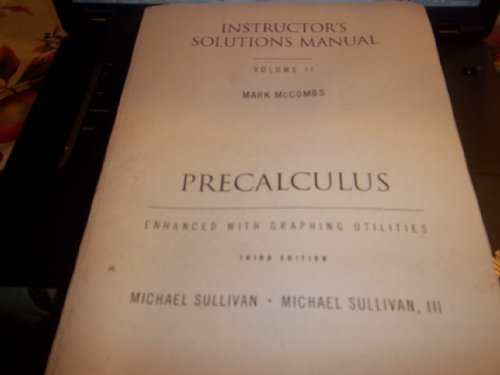 9780130478153: Precalculus Instructor's Solutions Manual (Volume 2)