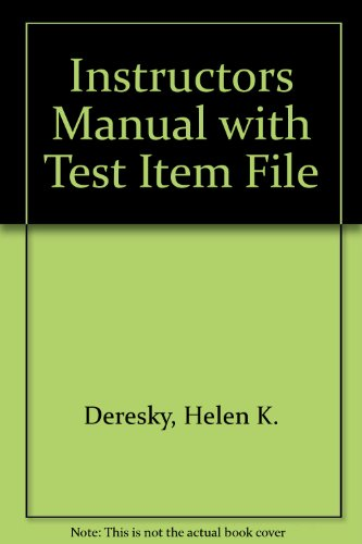9780130478283: Instructors Manual with Test Item File