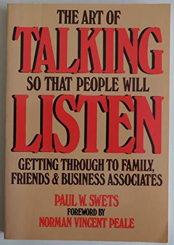9780130478375: Title: ART OF TALKING SO THAT PEOPLE WILL LISTEN