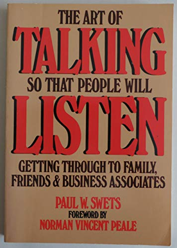 9780130478375: ART OF TALKING SO THAT PEOPLE WILL LISTEN