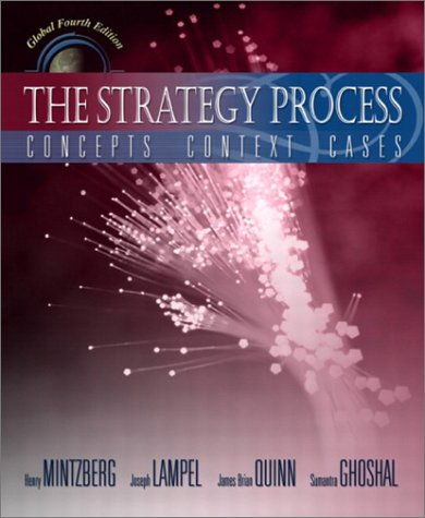 9780130479136: The Strategy Process: Concepts, Context, Cases (4th Edition)