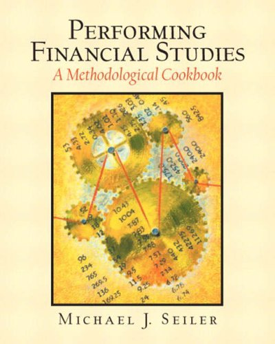 9780130479815: Performing Financial Studies: A Methodological Cookbook