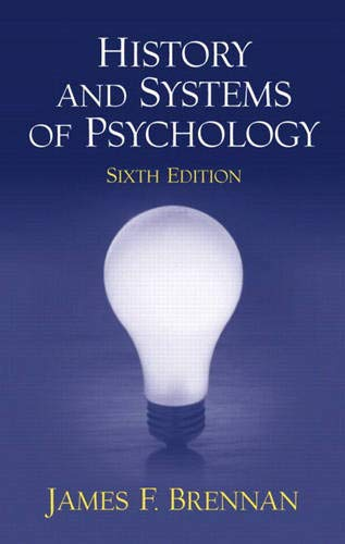 9780130481191: History and Systems of Psychology