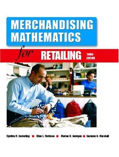9780130484215: Merchandising Mathematics for Retailing (3rd Edition)