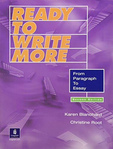 9780130484680: Ready to Write More: From Paragraph to Essay