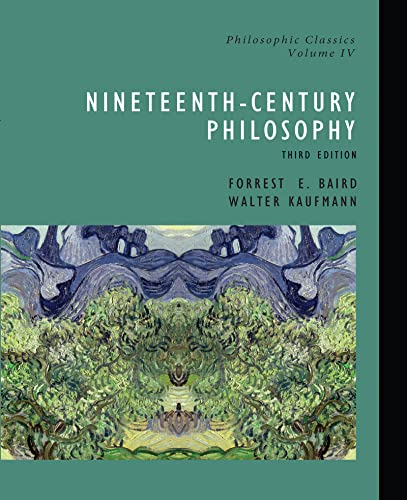 9780130485502: Philosophic Classics: 19th Century Philosophy: 19th Century Philosophy v. 4