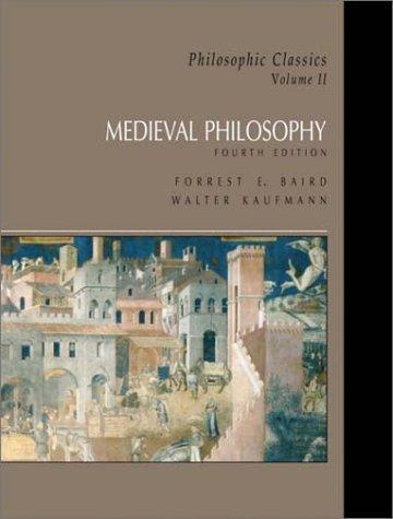 9780130485571: Philosophic Classics: Volume II: Medieval Philosophy