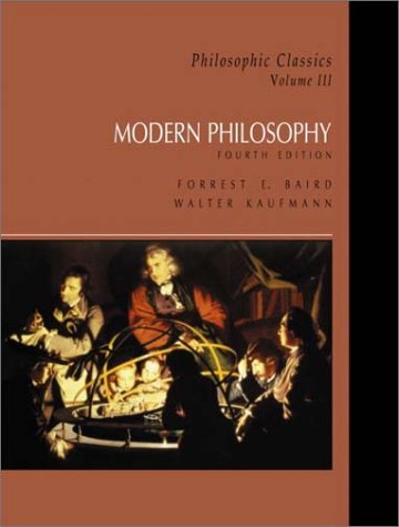 9780130485588: Philosophic Classics: Volume III: Modern Philosophy