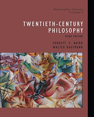 9780130485632: Philosophic Classics: 20th Century Philosophy: 20th Century Philosophy v. 5 (Philosophic Classic, Volume 5)
