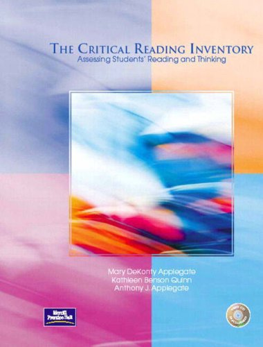 9780130486196: The Critical Reading Inventory: Assessing Students' Reading and Thinking