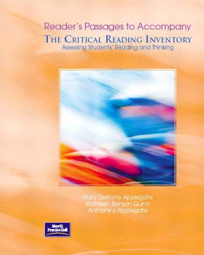 9780130486219: Readers Passages: Assessing Student Reader Passages