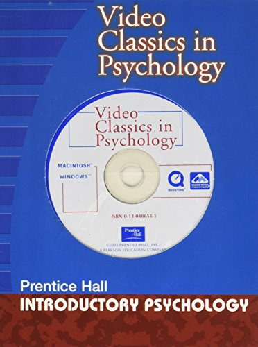 Video Classics in Psychology - Prentice Hall- Introductory Psychology: Compilation of Videos ...