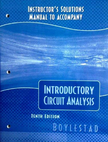 Instructors Manual: Robert Boylestad