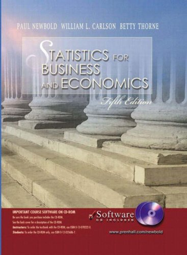 9780130487285: Statistics for Business and Economics and Student CD-ROM (International Edition)