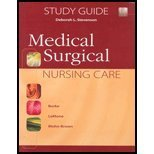 9780130488244: Medical Surgical Nursing Care: Student Study Guide