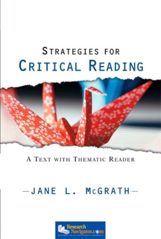 9780130488756: Strategies for Critical Reading: A Text with Thematic Reader (McGrath Developmental Reading)