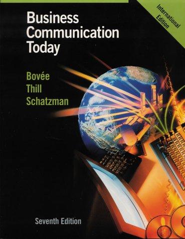 9780130491763: Business Communication Today (International Edition)