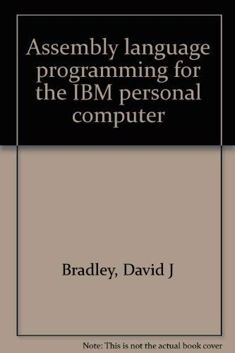 9780130491893: Assembly language programming for the IBM personal computer