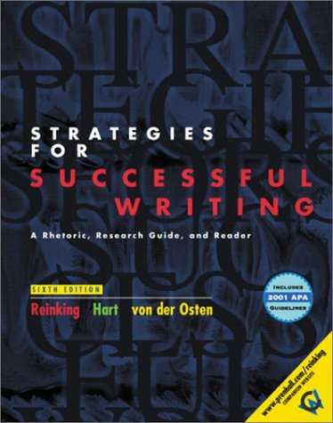 9780130493026: Strategies for Successful Writing, Brief with 2001 APA Guidelines (6th Edition)
