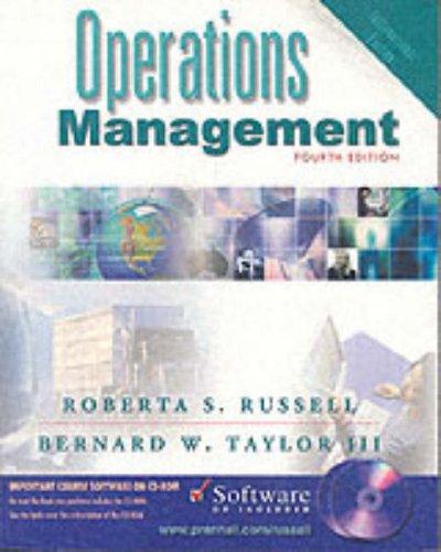 Operations Management: Taylor, Bernard W.