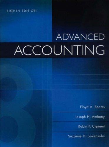 Advanced Accounting: Floyd A. Beams,
