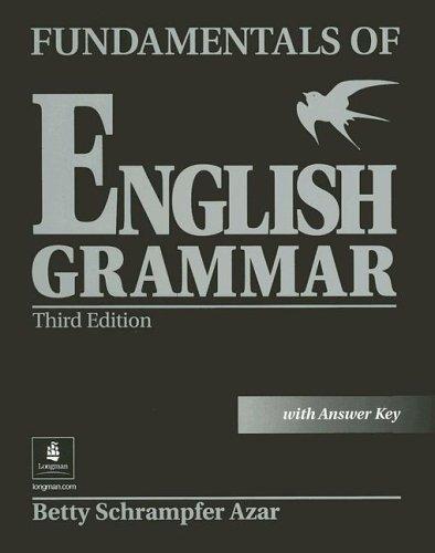 9780130494474: Fundamentals of English Grammar: Student Workbook without Answer Key (Azar English Grammar)