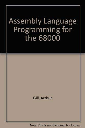 9780130495297: Assembly Language Programming for the 68000
