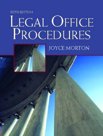9780130496218: Legal Office Procedures, Sixth Edition