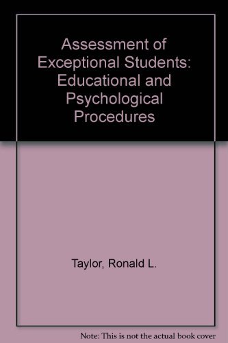 9780130496843: Assessment of exceptional students: Educational and psychological procedures