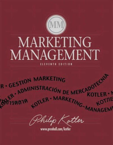 9780130497154: Marketing Management (International Edition)