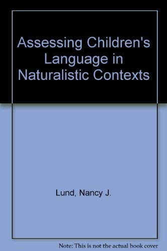 9780130497369: Assessing Children's Language in Naturalistic Contexts