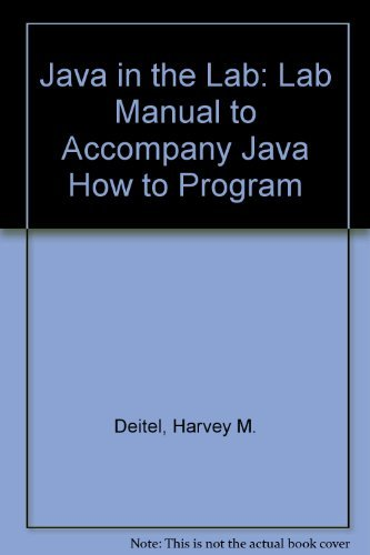 9780130497734: Java in the Lab: Lab Manual to Accompany Java How to Program