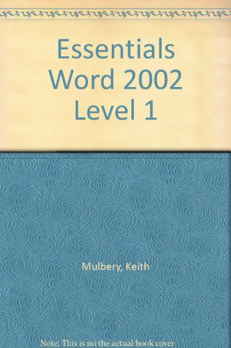 9780130499202: Essentials Word 2002 Level 1