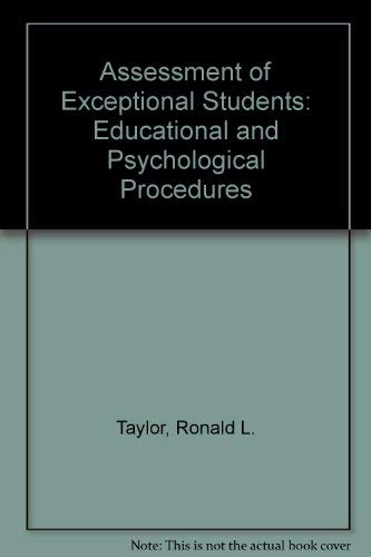 9780130501707: Assessment of Exceptional Students: Educational and Psychological Procedures