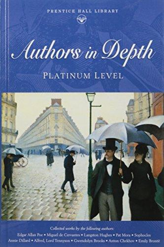 9780130504036: Authors in Depth: Platinum Level (Prentice Hall Literature Library)