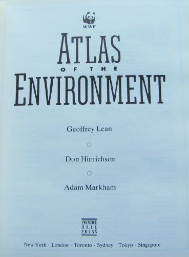 9780130504692: Atlas of the Environment