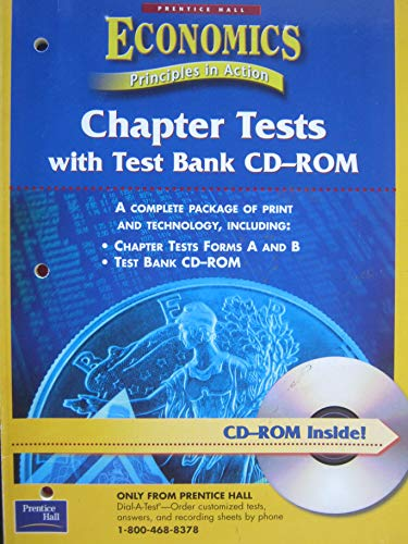 9780130505378: Economics Test Bank CD ROM (Principles in Action)