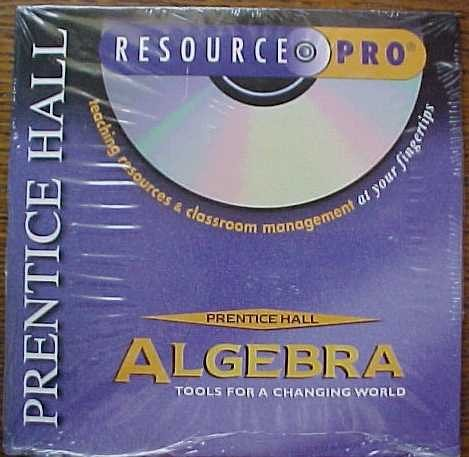 9780130506573: Resource Pro CD-ROM (Prentice Hall Algebra Tools For A Changing World)
