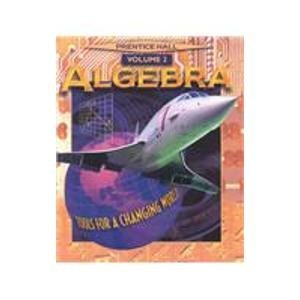 9780130507075: Algebra Tools for a Changing World Volume 2