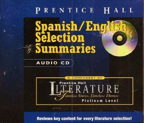 9780130511126: PRENTICE HALL LITERATURE:TVTT FIFTH EDITION ENGLISH/ SPANISH SUMMARIES  CD GRADE 10