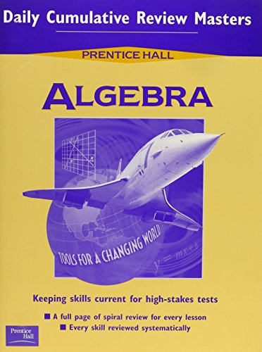 9780130518101: ALGEBRA DAILY CUMULATIVE REVIEW BLACKLINE MASTERS 2001C