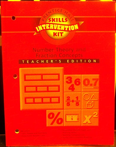9780130518439: Number Theory and Fraction Concepts Intevention Unit Workbook Teacher's Edition: Part of Math Skills Intervention Kit