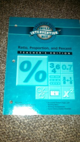 9780130518446: Ratio, Proportion and Percent Intervention Unit Workbook Teacher's Edition: Part of Math Skills Intervention Kit