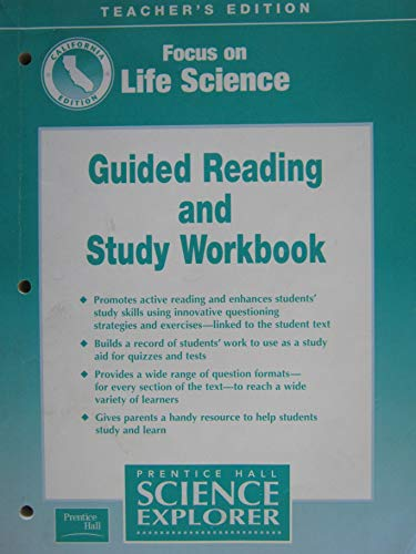 9780130527318: Focus on Life Science: Guided Reading and Study Workbook California Teacher's Edition Prentice Hall