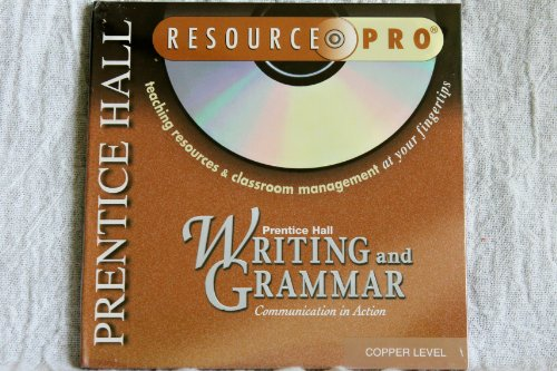 9780130530165: Copper Level Resource Pro CD-ROM (Writing and Grammar Communication in Action)