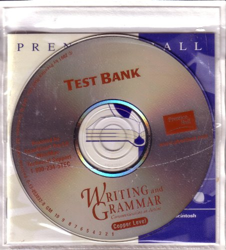 9780130530325: Test Bank CD-ROM Copper Level (Writing and Grammar Communications In Action)