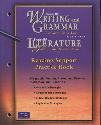 9780130532138: WRITING & GRAMMAR READING SUPPORT PRACTICE BOOK GRADE 7 2001C FIRST EDITION